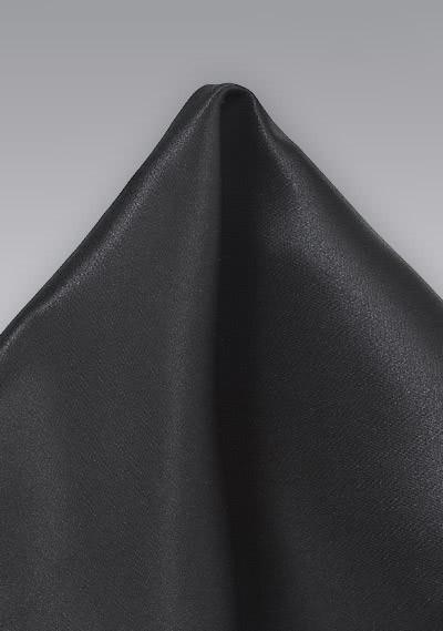 Kavaliertuch italienische Seide einfarbig schwarz