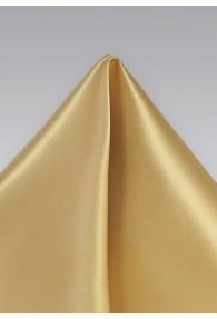 Einstecktuch italienische Seide monochrom gold