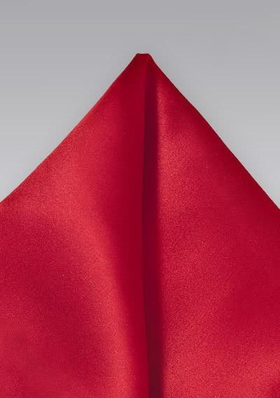 Kavaliertuch italienische Seide monochrom rot