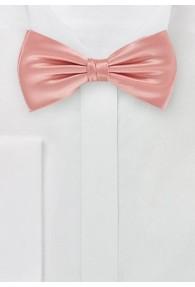 Herren-Schleife monochrom rosa italienische Seide