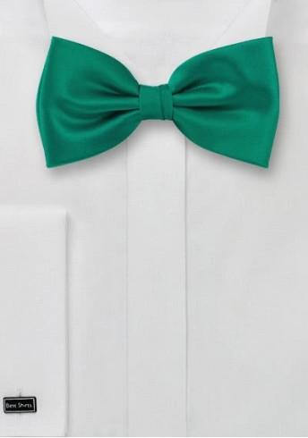 Herren-Schleife unifarben tannengrün italienische Seide