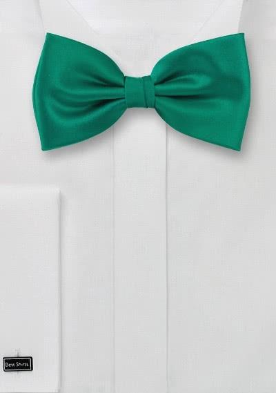 Herren-Schleife unifarben tannengrün italienische