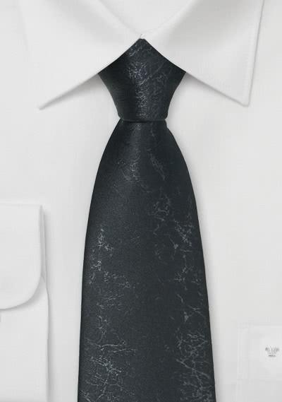 Party-Krawatte teerschwarz Leder-Optik