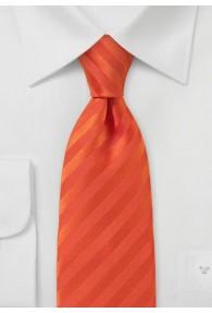 Streifen-Krawatte orangerot