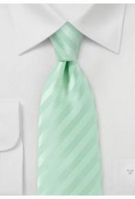 Linien-Krawatte hellgrün