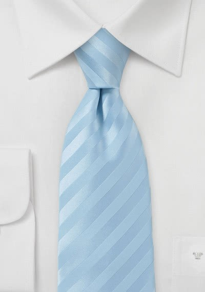 Linien-Krawatte eisblau