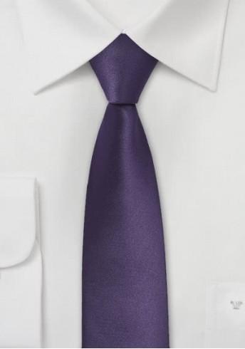 Moulins schmale Krawatte in dunklem violett