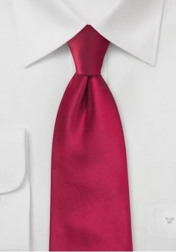 Kinder-Krawatte einfarbig Red-Pepper