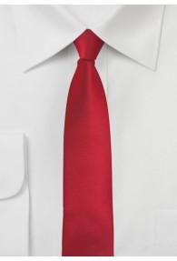 Krawatte einfarbig Red-Pepper schmal