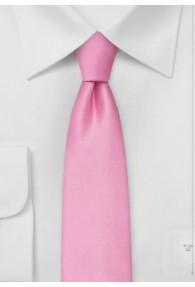Mikrofaser-Krawatte schmal einfarbig pinkt