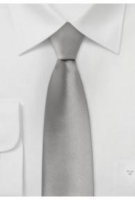 Schmale Mikrofaser-Krawatte monochrom altsilber