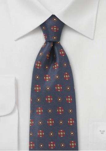 Blümchenmuster-Krawatte traditionell navy