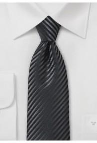 Herrenkrawatte Streifen-Struktur schwarz