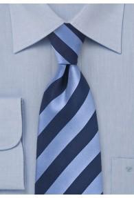 Clip-Krawatte blau hellblau Streifenmuster