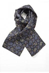 Krawattenschal/Tuchschal in schwarz mit