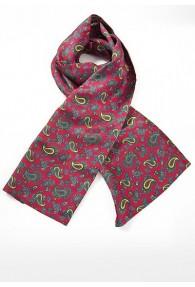 Krawattenschal rot Paisley