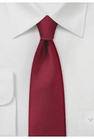 Einfarbige schmale  Krawatte mit Rippsstruktur...