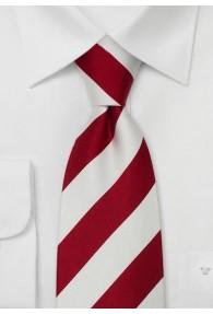 Lighthouse XXL-Krawatte rot/weiß