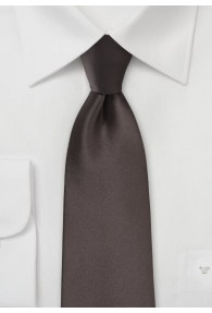 Markante Krawatte capuccinofarben Mikrofaser