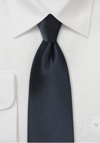 Markante Businesskrawatte dunkelblau Poly-Faser