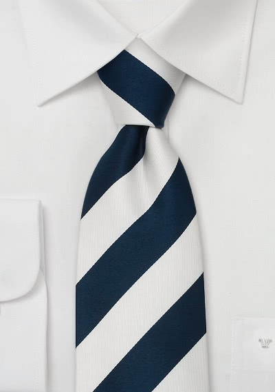 Krawatte Streifen blau weiß
