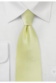 Modische Krawatte blassgelb Poly-Faser