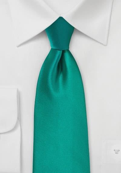 Modische Krawatte dunkelgrün Kunstfaser