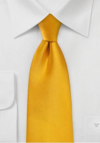 Stylische Krawatte goldgelb Kunstfaser