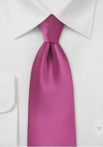 Stylische Krawatte magenta Mikrofaser