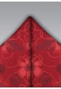 Kavaliertuch rot Rosen-Dekor