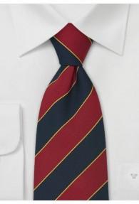 Krawatte Lothian and Border rot dunkelblau