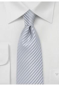 Krawatte abgestuft streifengemustert silbergrau
