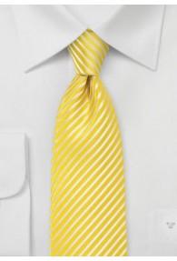 Businesskrawatte Ton in Ton gestreift gelb
