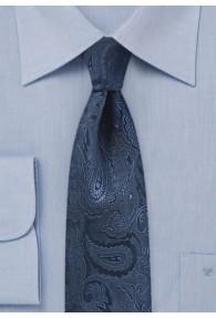 Krawatte Paisley schmal dunkelblau