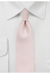 Herrenkrawatte filigrane Tupfen rosa