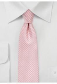 Krawatte zarte Punkte altrosa