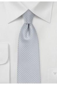 Krawatte zierliche Tupfen silber