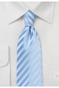 Krawatte Linien hellblau abgestuft