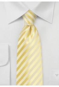 Krawatte Linien hellgelb Ton in Ton
