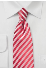 Krawatte Linien rot Ton in Ton
