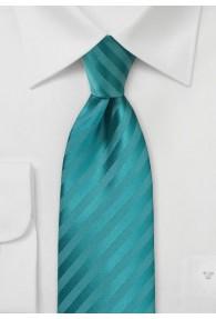 Krawatte Linien petrol Ton in Ton