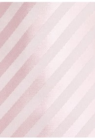 Herrenkrawatte Streifen blassrosa Ton in Ton