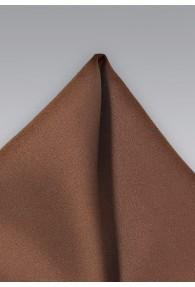 Einstecktuch braun Poly-Faser