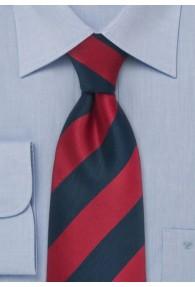 XXL-Krawatte Streifen rot navyblau