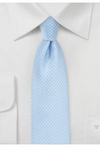Kravatte zarte Tupfen himmelblau