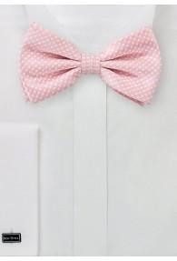 Herrenschleife Poly-Faser Punkte rosa
