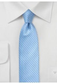 Kravatte schmal Punkt-Pattern hellblau navy
