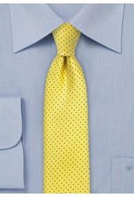 Krawatte schlank Punkt-Pattern gelb dunkelblau