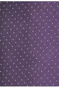Krawatte schmal Punkt-Dessin lila silber