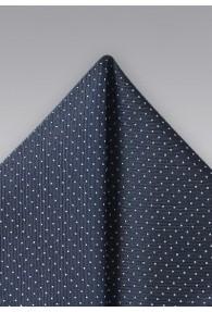 Punkte-Einstecktuch dunkelblau weiß